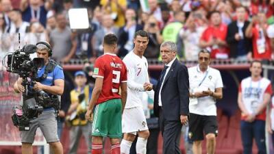 """Fernando Santos, de la actuación de Cristiano: """"Tiene un gran entrenador"""""""
