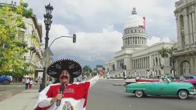Kevin Arnulfo y se recorrido en la Habana: una odisea para ver el partido del Tri