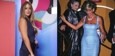 Shannon de Lima copia un truco de Lady Di en la alfombra de Premios Juventud 2017
