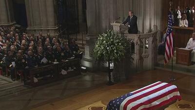 Controversia y detalles marcaron el homenaje al expresidente George H.W. Bush en Washington