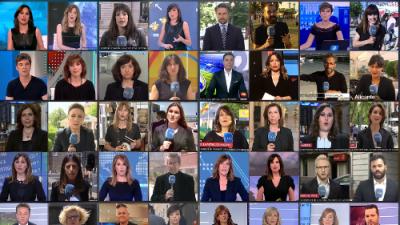 Por qué los viernes se visten de luto los trabajadores de la televisión pública de España