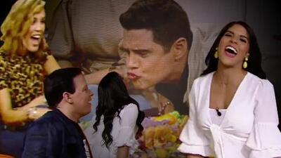 """Francisca y """"su baby"""" Alejandro Chabán se dieron un beso en TV que dejó a todos boquiabiertos (¿y el italiano?)"""