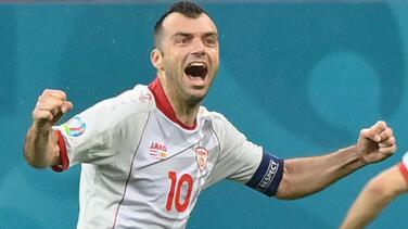 Goran Pandev, segundo goleador más veterano de la historia de la Eurocopa