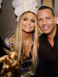 NEW YORK, NY - AUGUST 21: Jennifer Lopez and Alex Rodriguez attend Jennifer Lopez's MTV VMA's Vanguard Award Celebration at Beauty & Essex on August 21, 2018 in New York City. (Photo by Andrew Toth/Getty Images for TAO Group)