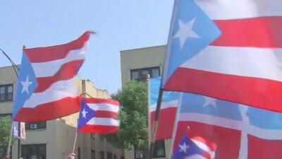 La diáspora puertorriqueña marcha en Humboldt Park en celebración a la renuncia de Ricardo Roselló