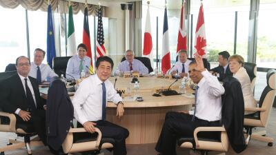 """Dirigentes del G7 definieron el crecimiento mundial como """"prioridad urgente"""""""