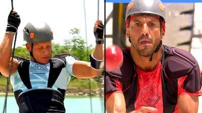 Salvador vs. 'El Rasta': uno de los dos demostró sus habilidades para dominar la pista de aire