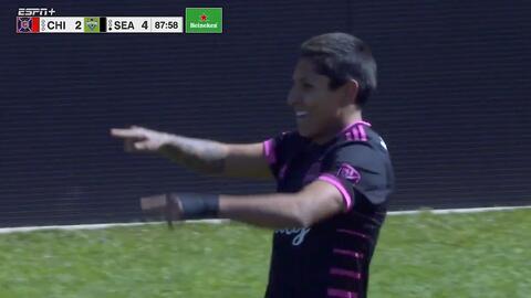El peruano Raúl Ruidíaz quema las redes y sella la victoria de los Sounders por 4-2 ante Chicago