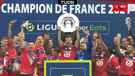 ¡Campeones! Pizzuto, Weah y David festejan título del Lille