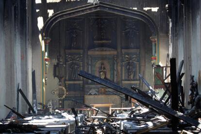La Misión de San Gabriel sufre enormes daños tras un incendio de ...