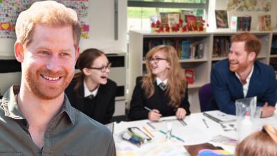 El príncipe Harry regresó a la escuela y se pregunta hasta cuándo habrá  exámenes