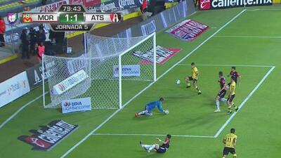 ¡Lo empató Morelia! Lezcano consigue el 1-1