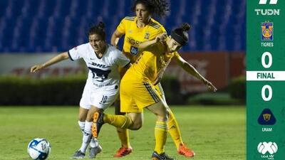 Pumas rescata un empate ante Tigres en el 'Volcán'