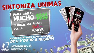 Para participar sintoniza Noticias 23 en Unimas, a las 10 pm, de lunes a viernes, y anota la palabra clave.