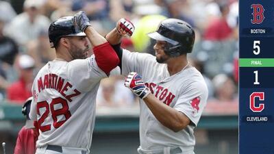 Los Red Sox le ganan la serie a los Indians con poder al bat