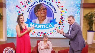 Martica 'la del café' se emocionó con estos mensajes de despedida de sus amigos de Univision