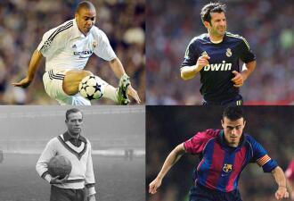 El once ideal de jugadores que vistieron las camisetas de Real Madrid y Barcelona