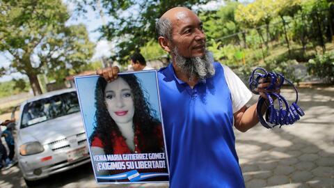 Le otorgaron casa por cárcel, pero decidió salir a las calles para protestar en favor de los presos políticos en Nicaragua
