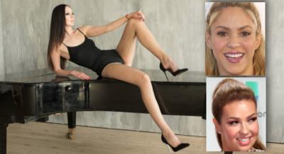 Las piernas de esta modelo ganadora del Guinness son casi tan altas como Shakira y Thalía