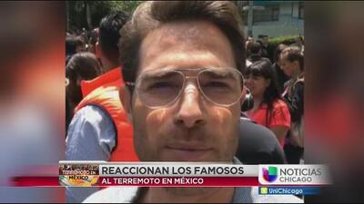 Famosos reaccionan al terremoto en México