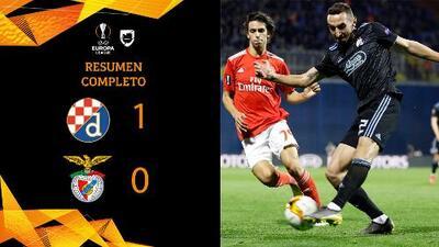 Dinamo Zagreb 1-0 Benfica - GOL Y RESUMEN - IDA - OCTAVOS DE FINAL - UEFA Europa League