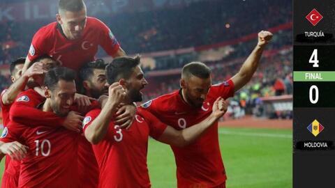Turquía 4-0 Moldavia - GOLES Y RESUMEN - GRUPO H - ELIMINATORIAS – Eurocopa