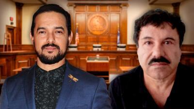Actor que interpreta a 'El Chapo' fue a la corte para conocer al verdadero Joaquín Guzmán y hasta lo saludó