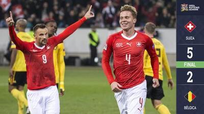 ¿Y la magia de Hazard? Suiza le remonta de forma espectacular a Bélgica y califica al Final Four