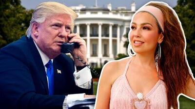 Thalía 'llamó' a la Casa Blanca y esta cara puso Trump cuando le 'atendió'