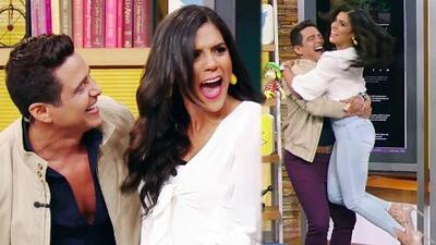 Francisca Lachapel grita de emoción al ver llegar de sorpresa a Alejandro Chabán y se lanza en sus brazos