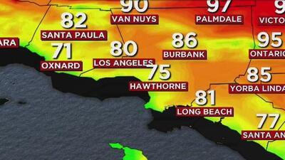 Cielo mayormente despejado y calor para este miércoles en Los Ángeles