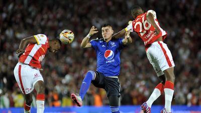 Empate en el clásico entre Independiente Santa Fe y Millonarios