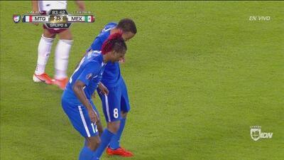 Martinica descontó 2-3 con este gran cabezazo