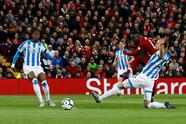 """Premier League - Liverpool v Huddersfield Town - Anfield, Liverpool, Britain - April 26, 2019 Liverpool's Naby Keita scores their first goal Action Images via Reuters/Jason Cairnduff EDITORIAL USE ONLY. No use with unauthorized audio, video, data, fixture lists, club/league logos or """"live"""" services. Online in-match use limited to 75 images, no video emulation. No use in betting, games or single club/league/player publications. Please contact your account representative for further details."""