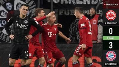 ¡Ribery en fuego! Bayern liquida al Entraicht de Carlos Salcedo