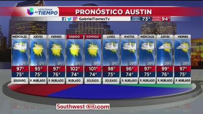 Continúan las altas temperaturas en Austin