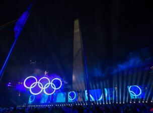 En el Obelisco se vivió la inauguración de los Juegos Olímpicos de la Juventud