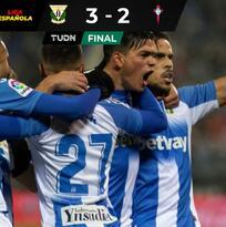 Javier Aguirre gana con el Leganés; Araujo anota para el Celta