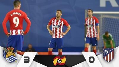 Real Sociedad golea al Atlético de Madrid y acerca al Barcelona al título