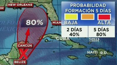 Pronostican probabilidad de tormenta tropical en la península de Yucatán
