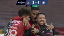 Atlas brinda su mejor partido y derrota al Atlético de San Luis