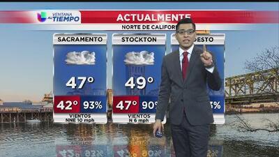 Miércoles frío y lluvioso al norte de California