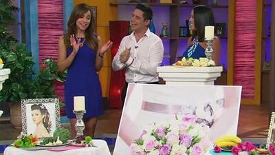Satcha  escuchó las recomendaciones de Alejandro Chabán para el día de su boda