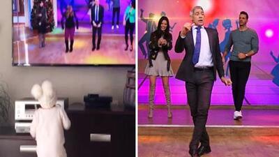 Detrás de cámaras: Johnny Lozada presume a su nieta y asegura que salió 'bailadora' como él
