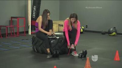 Fer se fue a hacer ejercicios con Anna Valencia en tacones