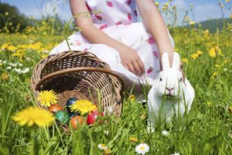 Celebra la primavera en una búsqueda de huevos de Pascua