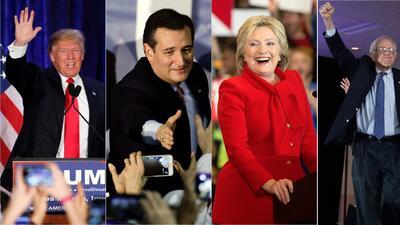 Ganadores y perdedores del caucus de Iowa
