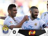 Sin Cristiano Ronaldo, el Real Madrid goleó a Las Palmas