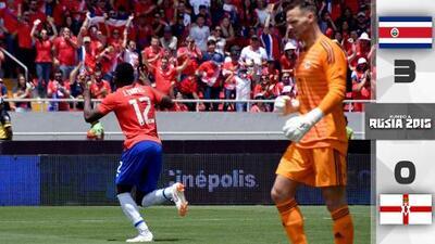 Costa Rica se despidió de su afición con goleada sobre Irlanda del Norte