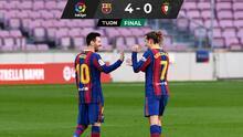 Goleada del Barcelona gracias a Messi y Griezmann
